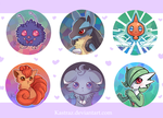 Pokemon Buttons by Kastraz