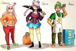 Calorie Killers: Main Characters by TechtonicPressure