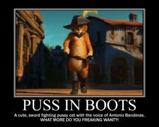 Puss in Boots: Coolest character ever! by BeautyAndStrength
