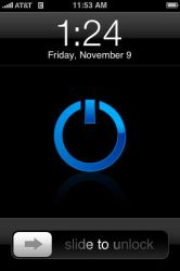Simple Blue Power For iPhone by xiao4