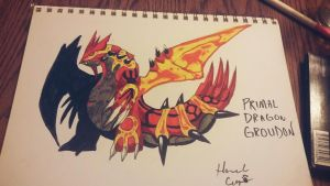 Primal Groudon Dragon  by Okamikurama