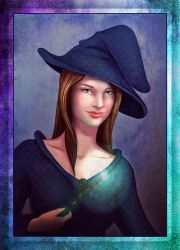 Witch portrait (commission) by Terafima