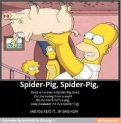 spider pig by kirbylover226