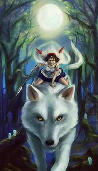 Princess Mononoke by Morigalaxy