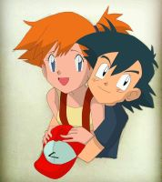 Pokemon Ash and Misty Ship by fantoondigital