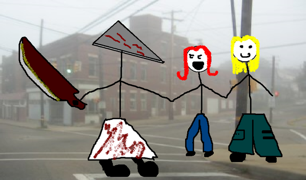you, me, and pyramid head by chullybelly