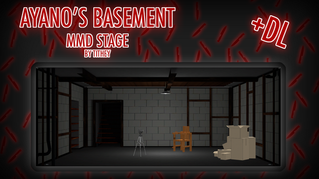 Ayano's Basment Stage - YanSim [MMD] + DL by Tithey