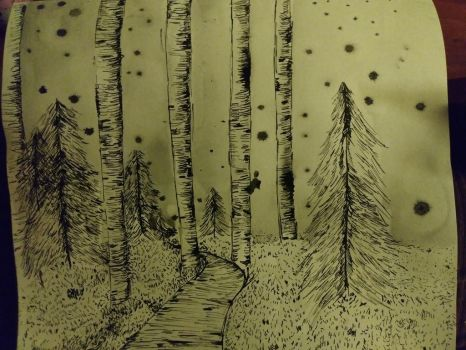 snow forest ink by Hirokid