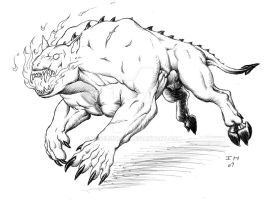 Hellhound by Level9Drow