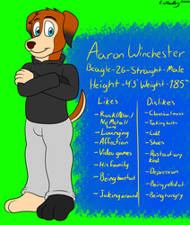 Aaron Winchester (2018-2019) by AGlassOfBuizel