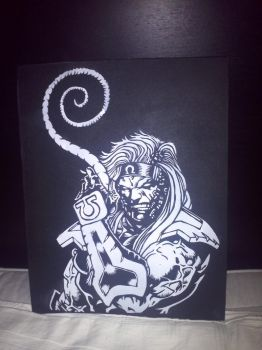 Omega Red on canvas by etixmophead