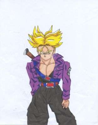 My first Trunks drawing. by lizardlaser