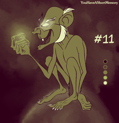 Palette Challenge #11 of 18 - Gollum by YouHaveAShortMemory