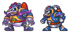 Chill Penguin, MegaManX, pixel upgrade. by Omegachaino