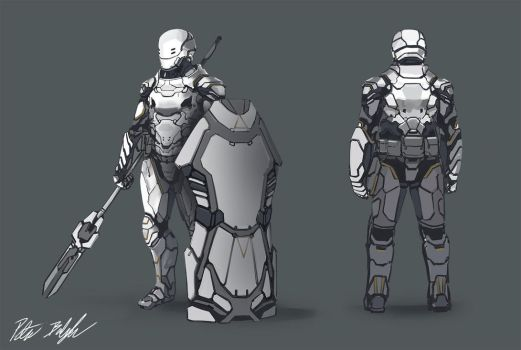Soldier concept by PeterPrime