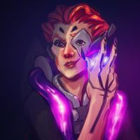 New Overwatch Hero, Moira! by scrambled-megs