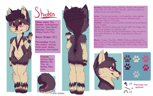 Updated Shaden ref sheet by Scudderball