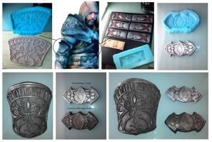More Assassins Creed Armor Progress by Jay-Michael-Lee