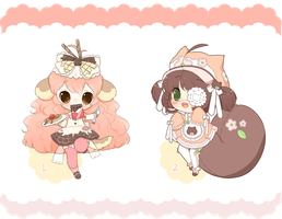 CLOSED Collab Adopts with cake--chan by Valyriana