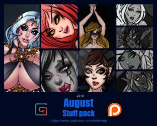 Patreon Stuff pack August 2018 - Gumroad by elwinne