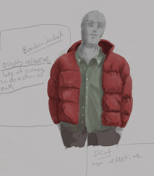 Clothes Study 1 : Puffer Jacket and Shirt by pixg