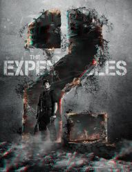 Expendables 2 poster 3-D conversion by MVRamsey