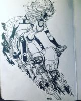 Cyber tech biker by aminamat