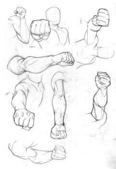 Foreshortening Practice by Bambs79