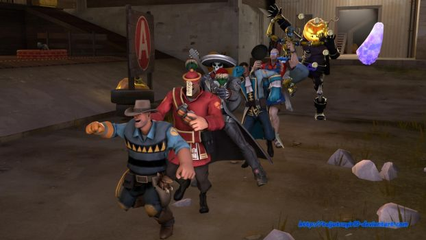Conga Party (TF2/Overwatch crossover) by Taijutsugirl0
