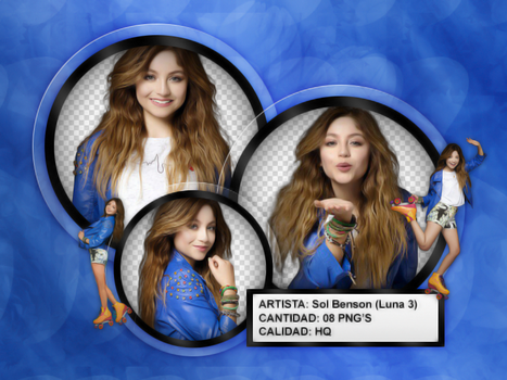 SOL / LUNA / SOY LUNA 3|PACK PNG by ThelightartOFC