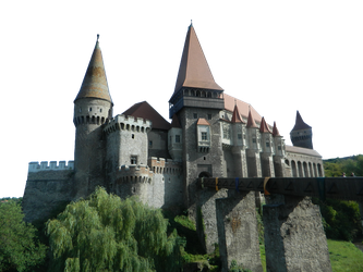 Medieval Corvin Castle PNG by silviubacky