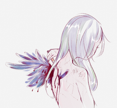Bloodied wings by rinnedesu