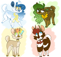Deer Adopts by OrangeJuicee