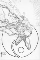 Iron Fist Sketch Commission by pyroglyphics1