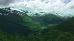 Sunlit mountain pass at Geiranger, Norway by RockLou