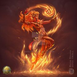 Fire girl by gugu-troll
