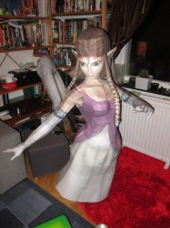 life size zelda assembly reparation done! by minidelirium