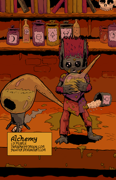 Alchemy (inktober, colored) by Sighter