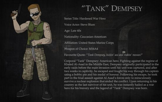 Character Bio - Tank Dempsey by D0ct0rrR1cht0f3n