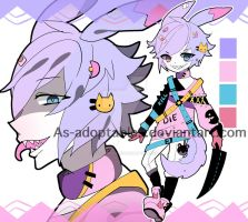 Pyscho bunny adoptable closed by AS-Adoptables