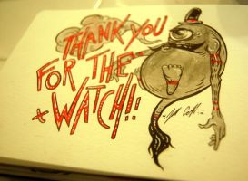 Thank you for the Watch by manfishinc