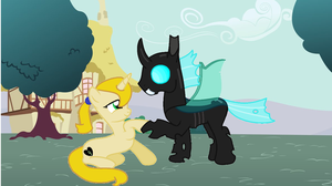 The Pony And A Changeling Part 1 by harmonyguard