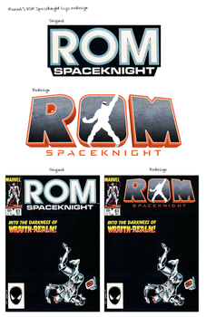 ROM logo redesign by stuckart
