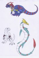A Bunch 'o Digimon by Scatha-the-Worm