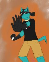 Don't mess with this Lucario by xtofubreadx