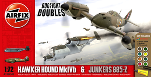 Airfix Hawker Hound + JU885 late 2000s box style by yereverluvinuncleber