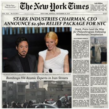 Stark Industries chairman, ceo announce $2.5bn... by nottonyharrison