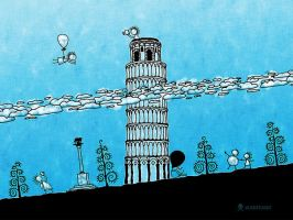 The Leaning Tower of Pisa by vladstudio