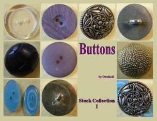 Buttons 8 Collection 1 by Gwathiell