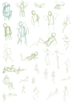Pose Sheet 1 by goldendragonqueen32